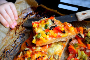 Pizza. Laktosefrei, fruktosearm, low fodmap, milcheiweißfrei