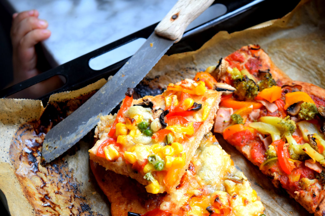 Pizza laktosefrei, fruktosearm, low fodmap, milcheiweißfrei